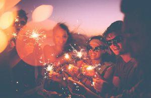 sparkling-Wunderkerzen friends